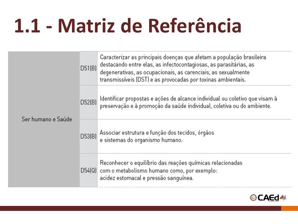 1.1 - Matriz de Referência
