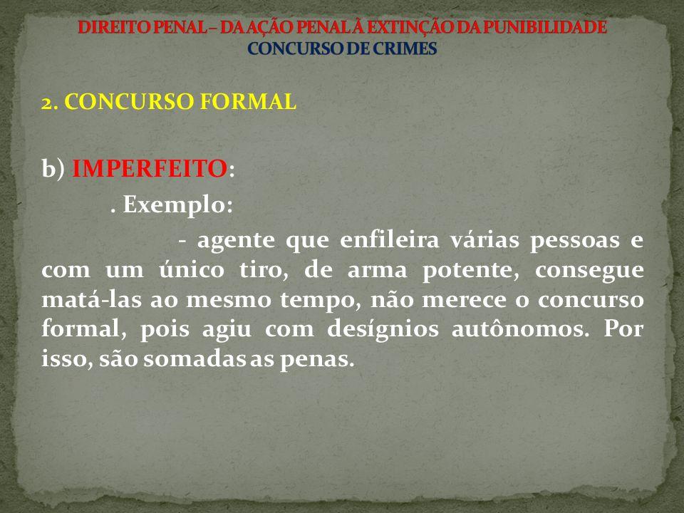 b) IMPERFEITO: . Exemplo: