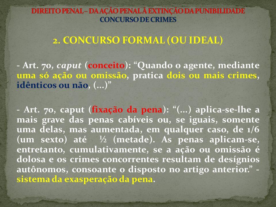 2. CONCURSO FORMAL (OU IDEAL)