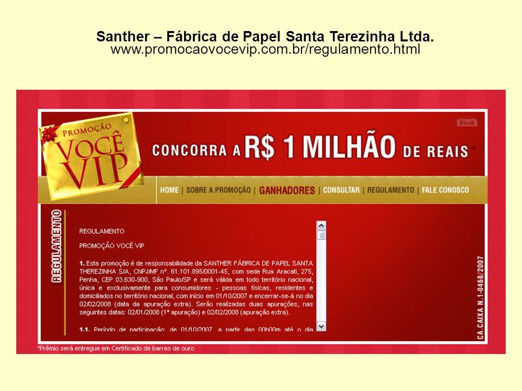 Santher – Fábrica de Papel Santa Terezinha Ltda.