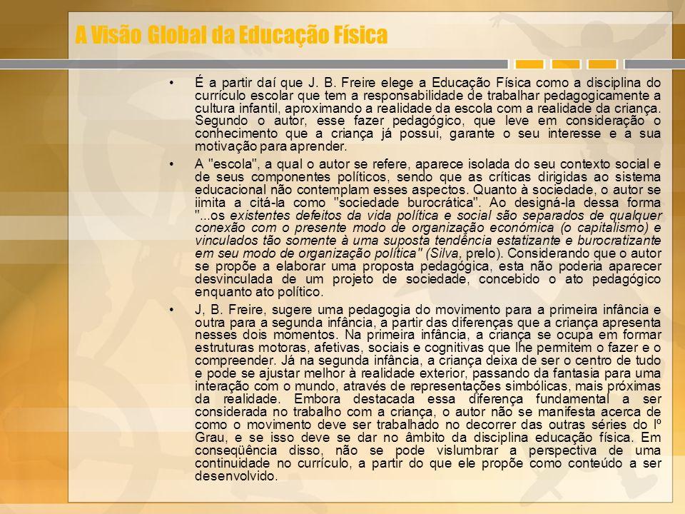 A Visão Global da Educação Física