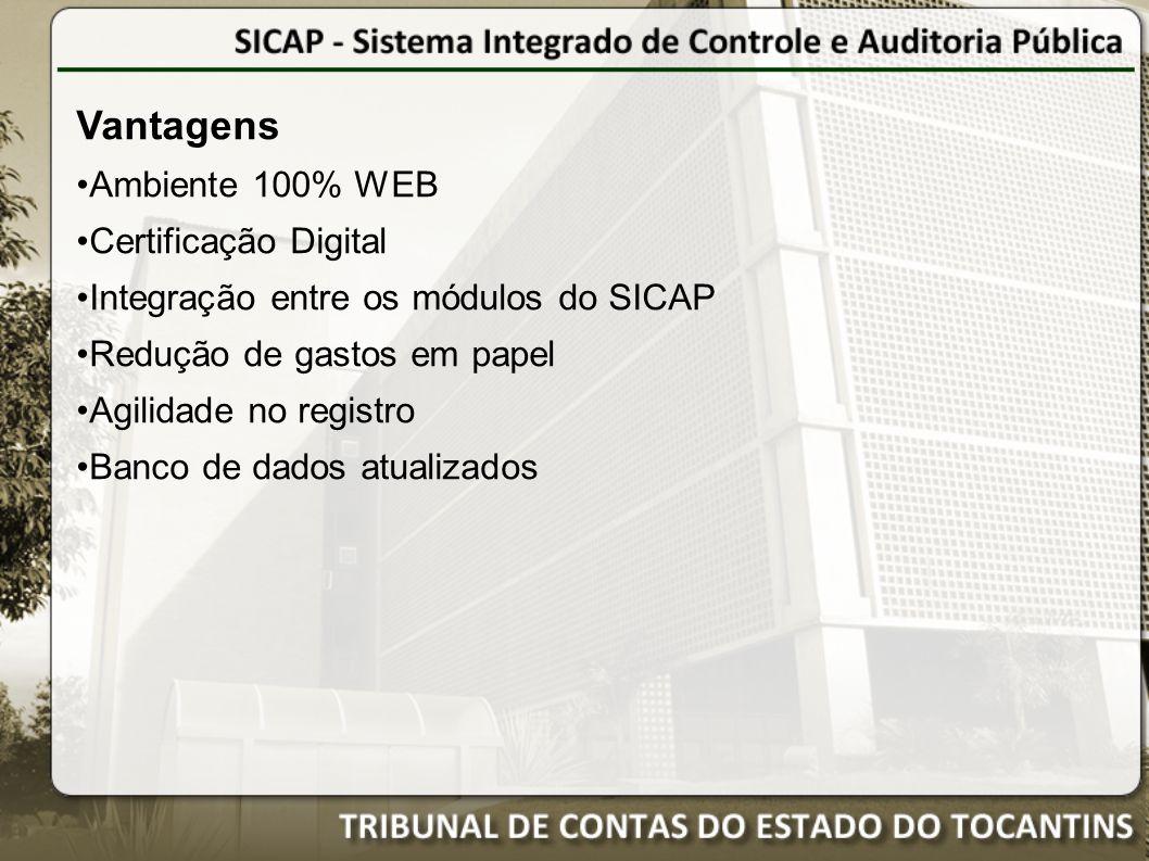 Vantagens Ambiente 100% WEB Certificação Digital