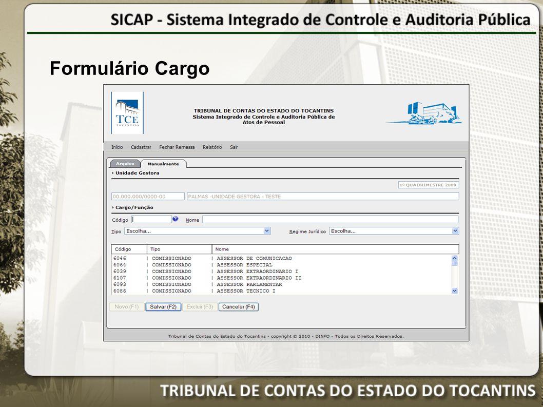 Formulário Cargo 17
