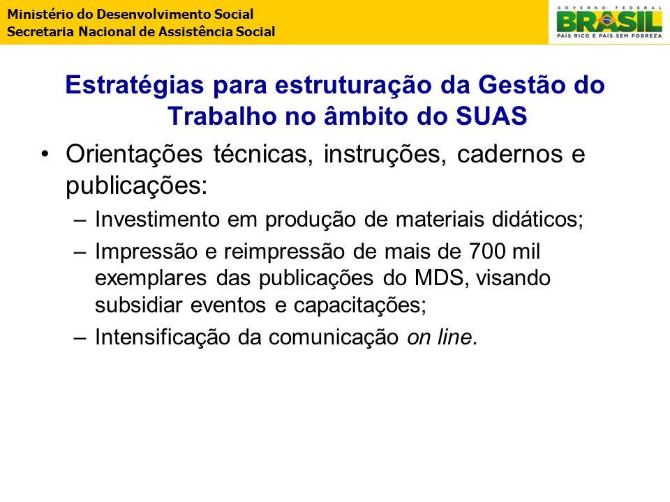 Estratégias para estruturação da Gestão do Trabalho no âmbito do SUAS