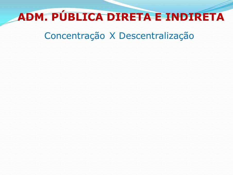 ADM. PÚBLICA DIRETA E INDIRETA