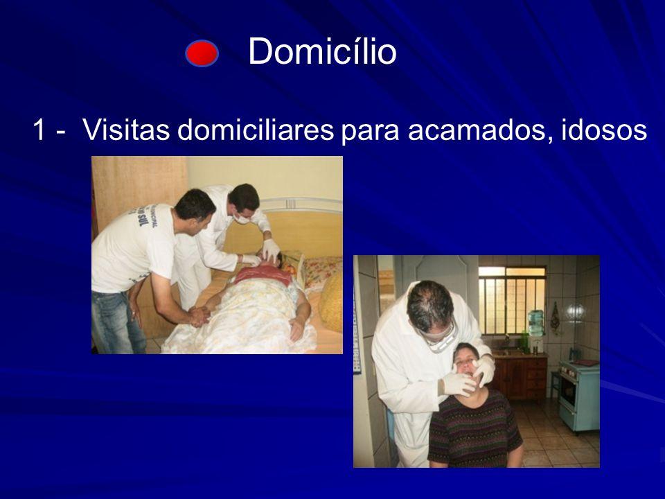 Domicílio 1 - Visitas domiciliares para acamados, idosos