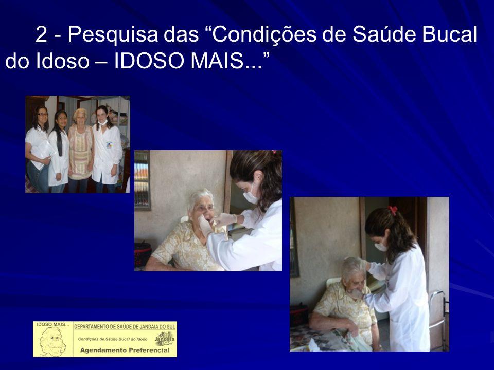2 - Pesquisa das Condições de Saúde Bucal do Idoso – IDOSO MAIS...