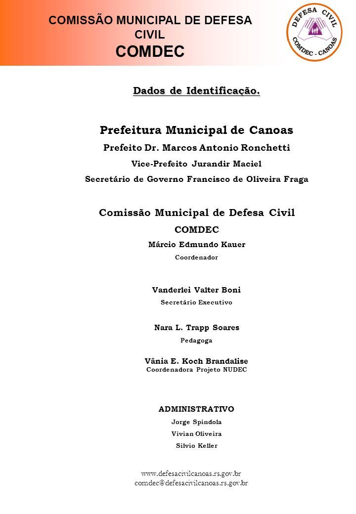 COMDEC COMISSÃO MUNICIPAL DE DEFESA CIVIL