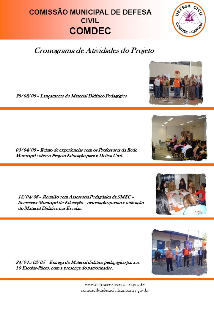 COMISSÃO MUNICIPAL DE DEFESA CIVIL