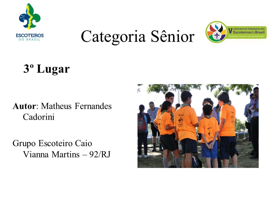 Categoria Sênior 3º Lugar