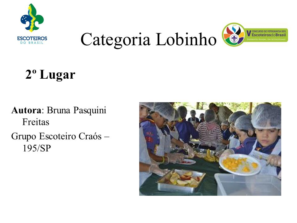 Categoria Lobinho 2º Lugar