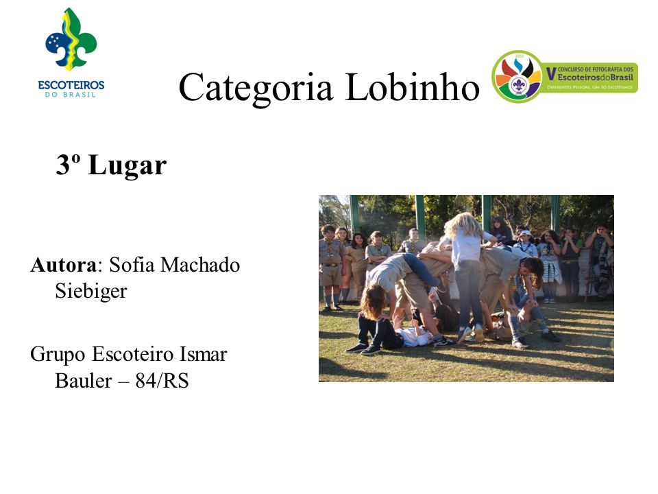 Categoria Lobinho 3º Lugar