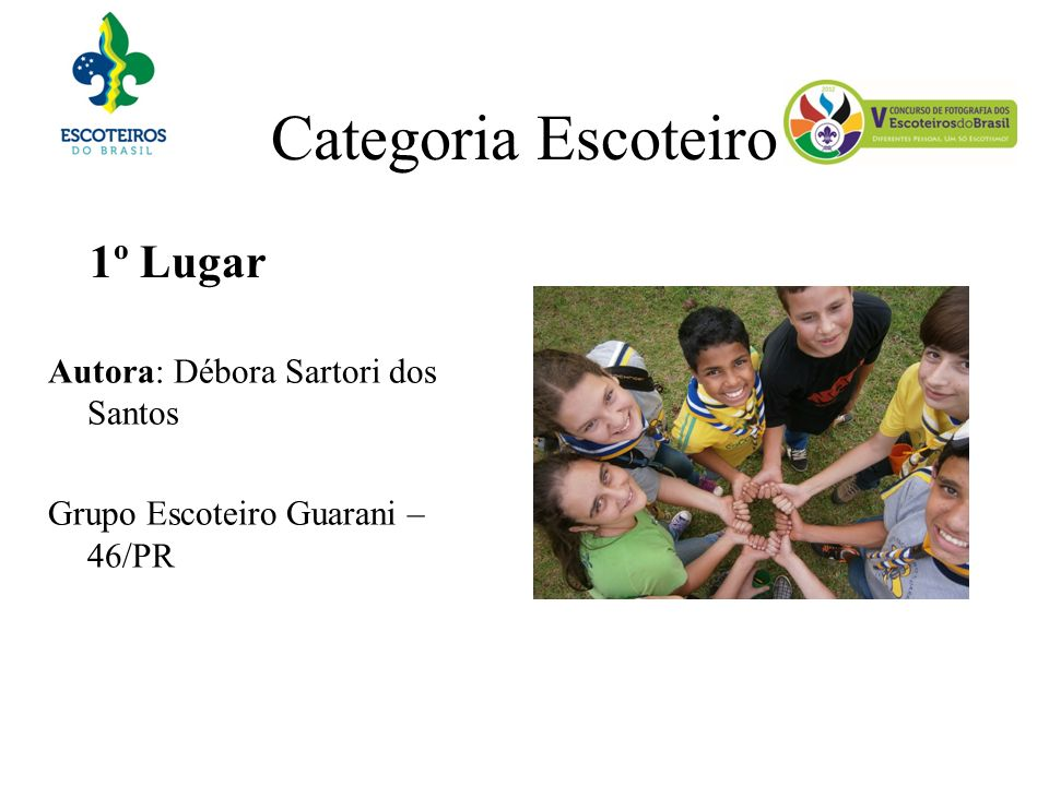 Categoria Escoteiro 1º Lugar