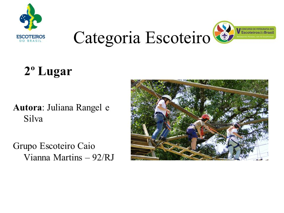 Categoria Escoteiro 2º Lugar