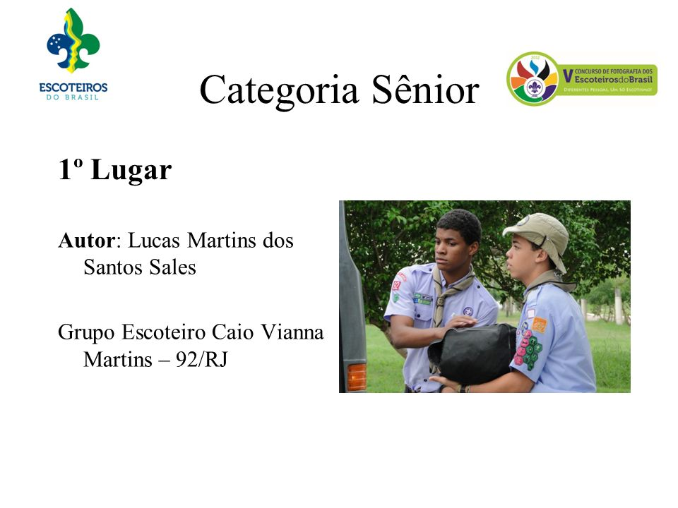Categoria Sênior 1º Lugar