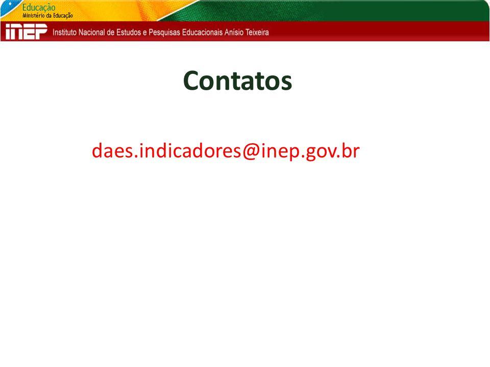 Contatos daes.indicadores@inep.gov.br