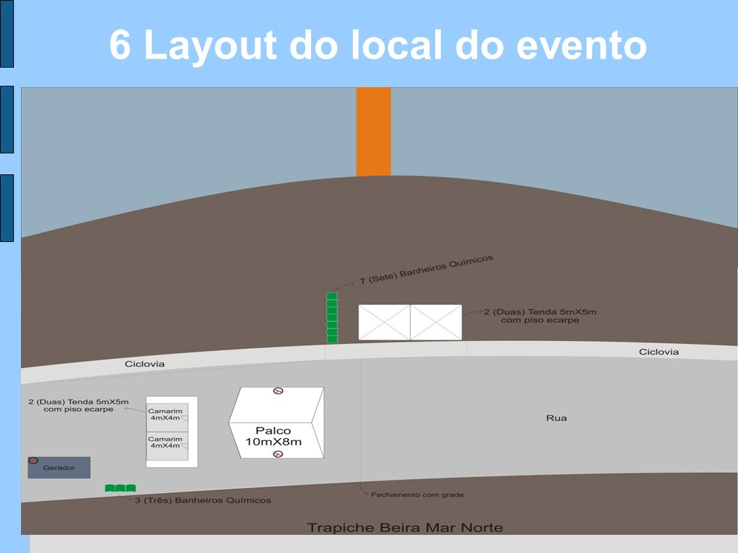 6 Layout do local do evento