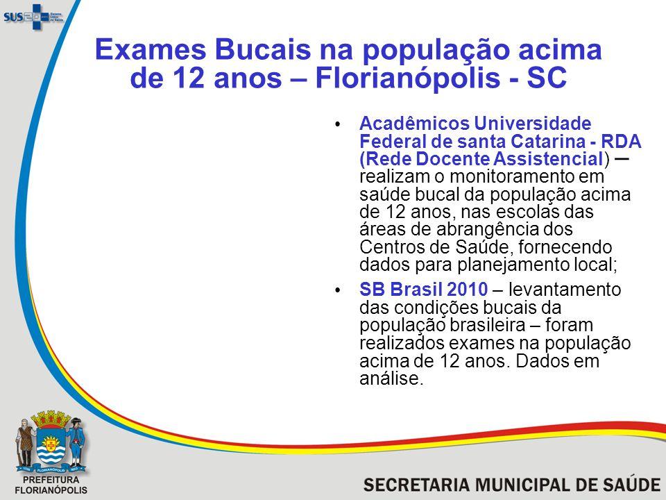 Exames Bucais na população acima de 12 anos – Florianópolis - SC