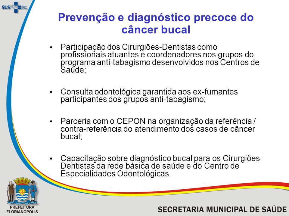 Prevenção e diagnóstico precoce do câncer bucal