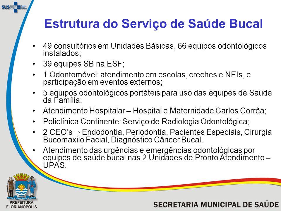 Estrutura do Serviço de Saúde Bucal