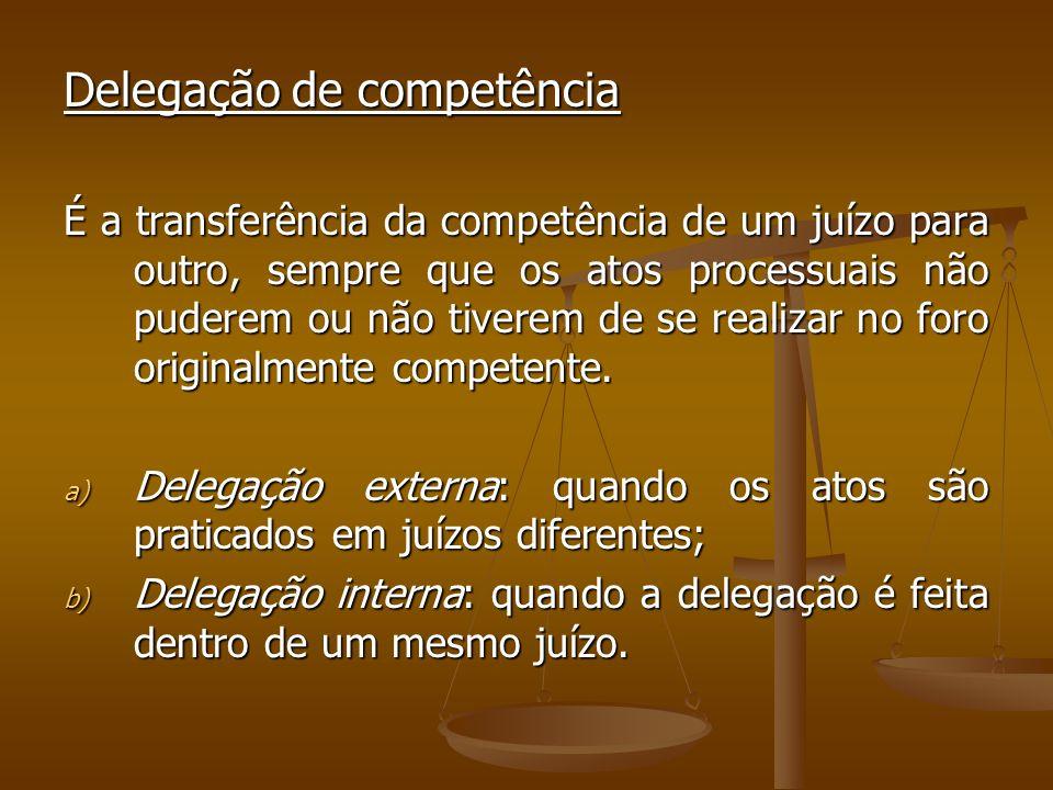 Delegação de competência