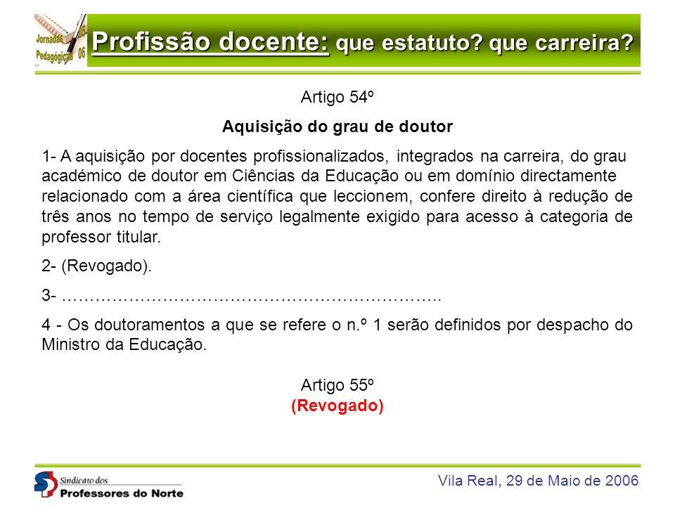 Aquisição do grau de doutor