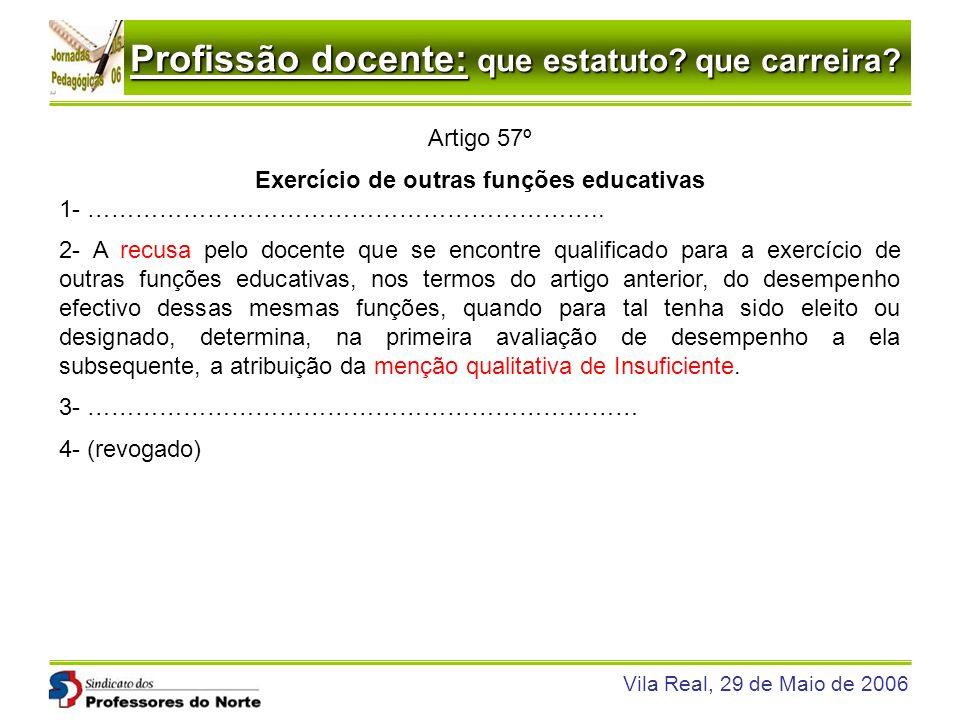 Exercício de outras funções educativas