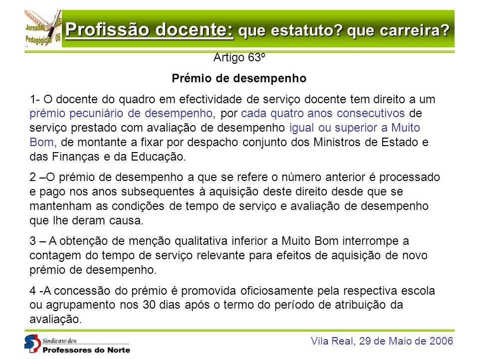 Artigo 63º Prémio de desempenho.