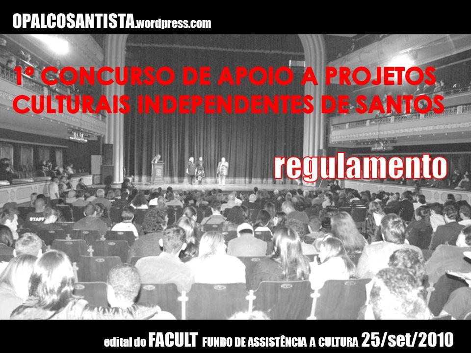 regulamento 1º CONCURSO DE APOIO A PROJETOS