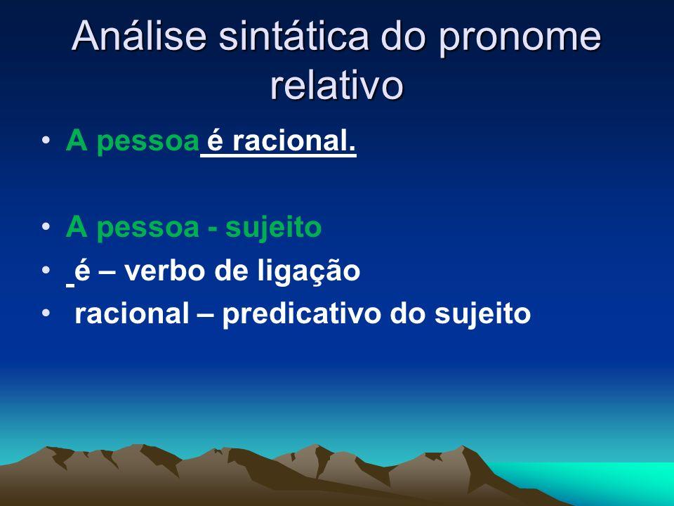 Análise sintática do pronome relativo