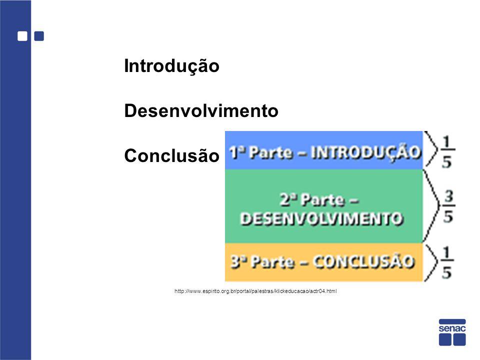 Introdução Desenvolvimento Conclusão