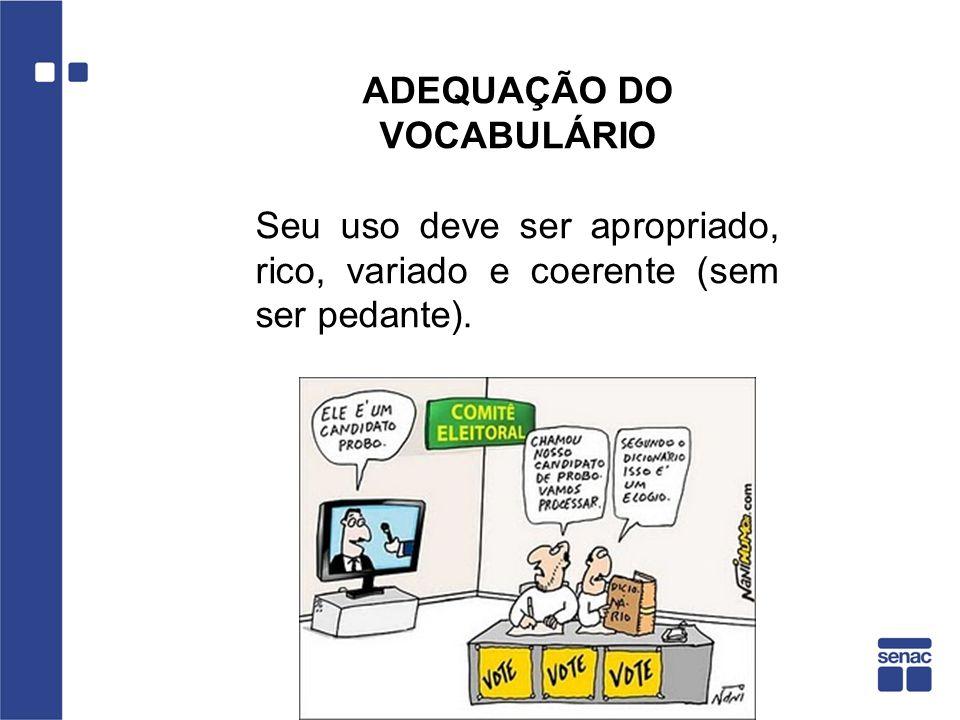 ADEQUAÇÃO DO VOCABULÁRIO