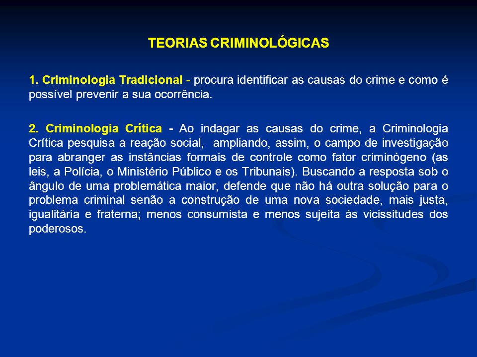 TEORIAS CRIMINOLÓGICAS