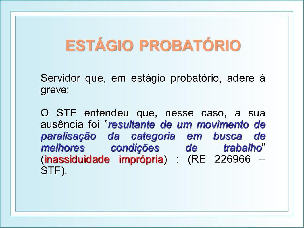 ESTÁGIO PROBATÓRIO