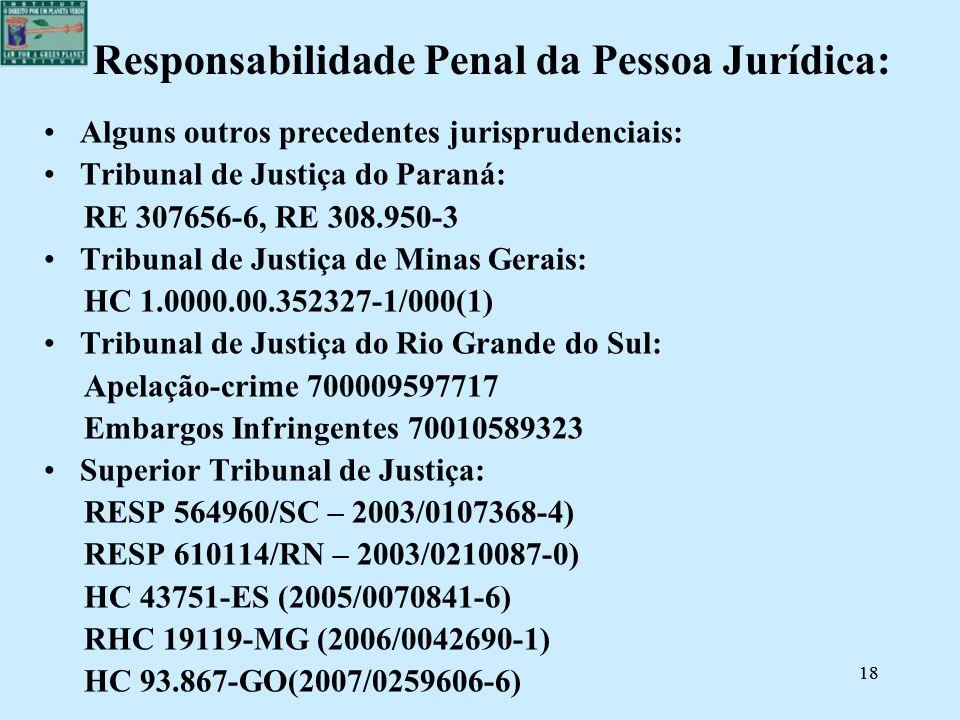 Responsabilidade Penal da Pessoa Jurídica: