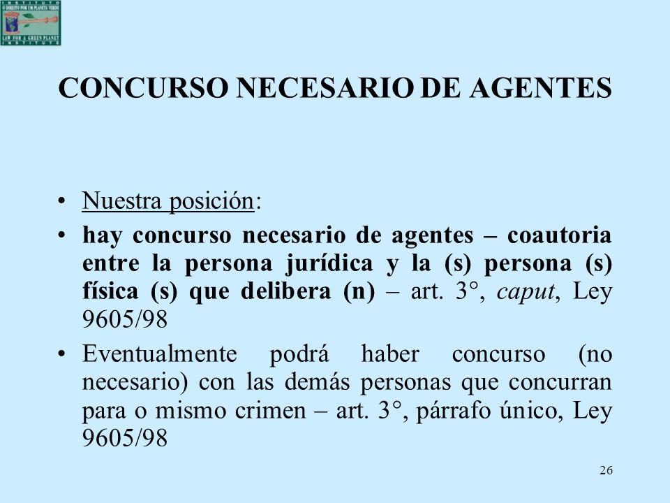 CONCURSO NECESARIO DE AGENTES