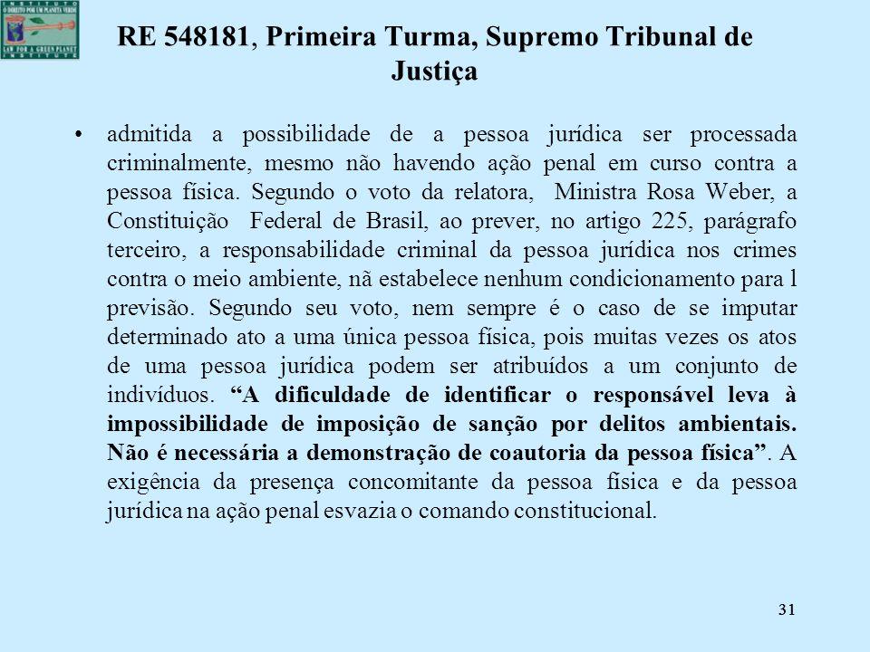 RE 548181, Primeira Turma, Supremo Tribunal de Justiça