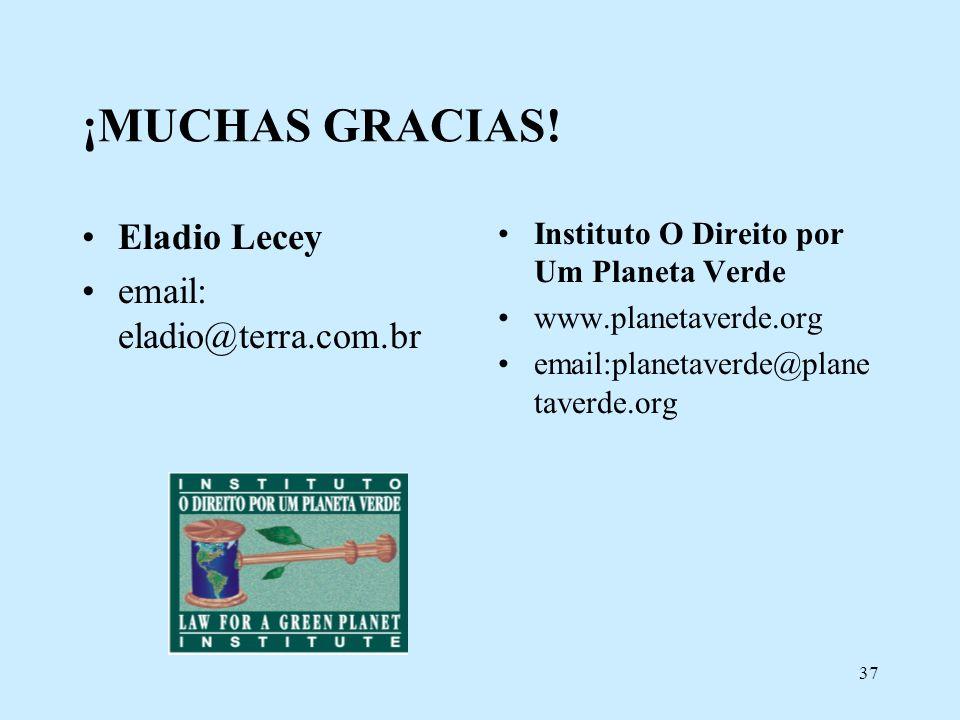 ¡MUCHAS GRACIAS! Eladio Lecey