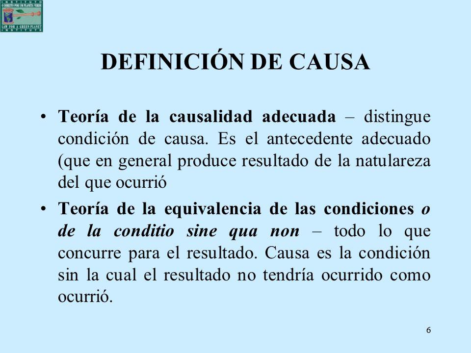 DEFINICIÓN DE CAUSA