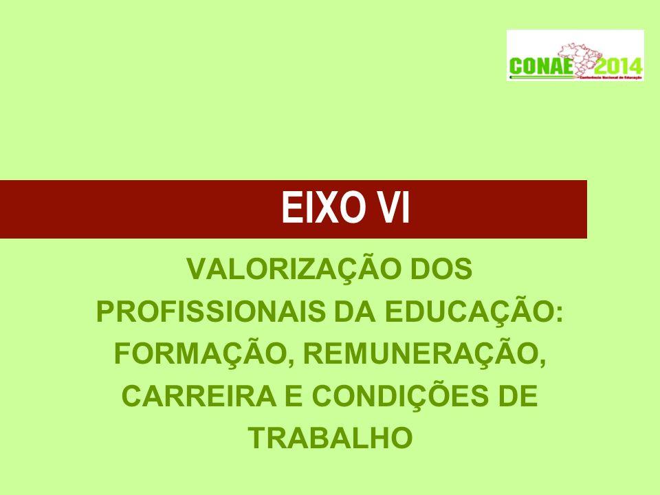 PROFISSIONAIS DA EDUCAÇÃO: CARREIRA E CONDIÇÕES DE