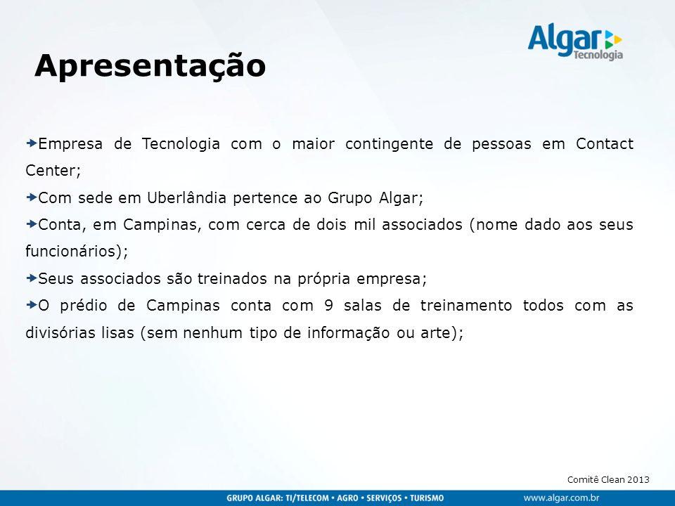 Apresentação Empresa de Tecnologia com o maior contingente de pessoas em Contact Center; Com sede em Uberlândia pertence ao Grupo Algar;