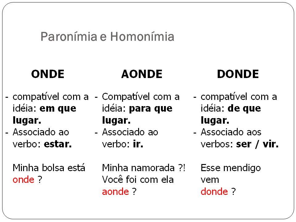 Paronímia e Homonímia