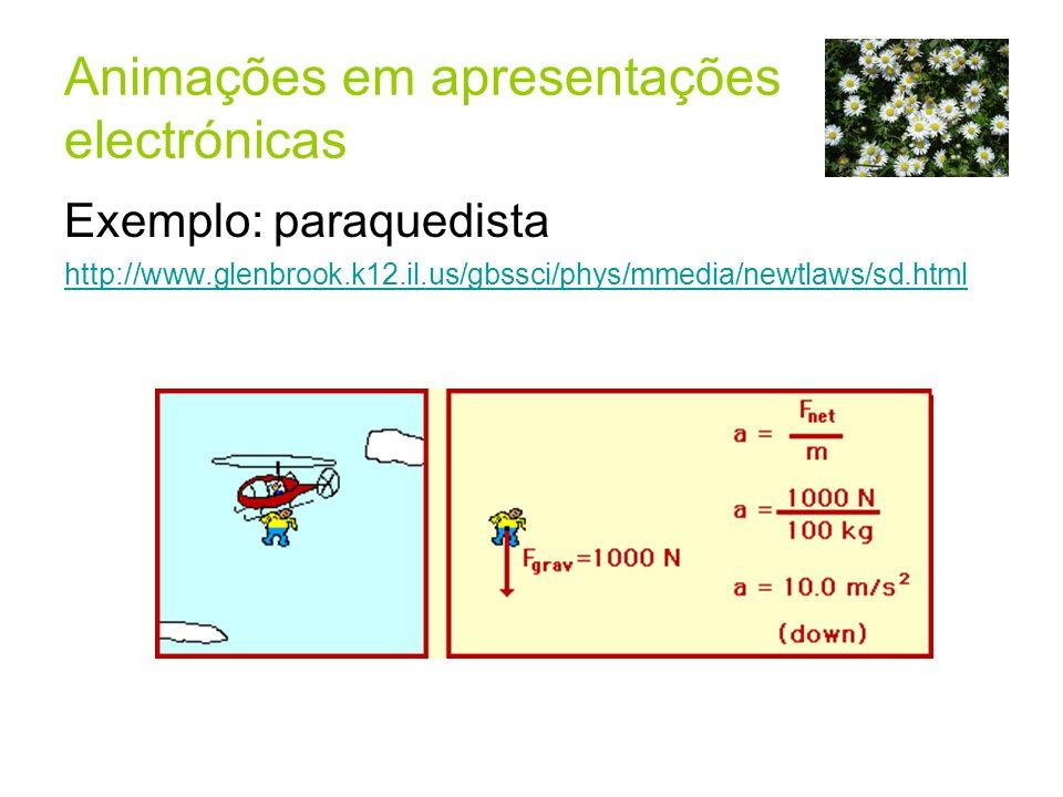 Animações em apresentações electrónicas