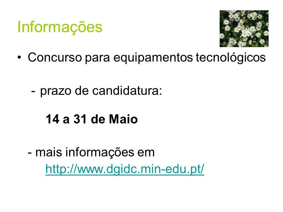 Informações Concurso para equipamentos tecnológicos