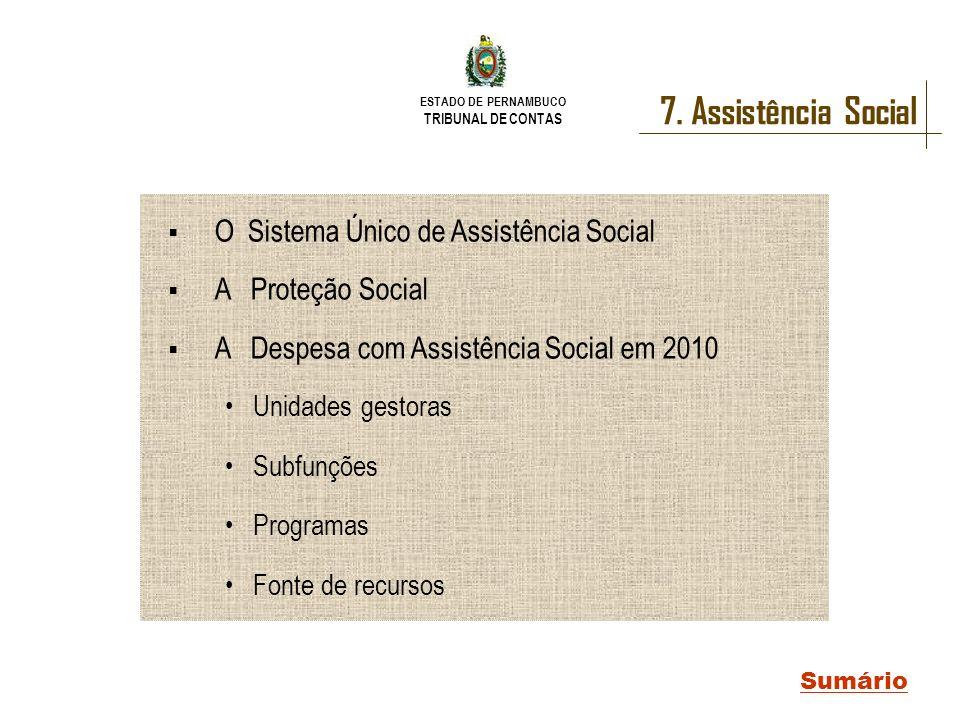 7. Assistência Social O Sistema Único de Assistência Social
