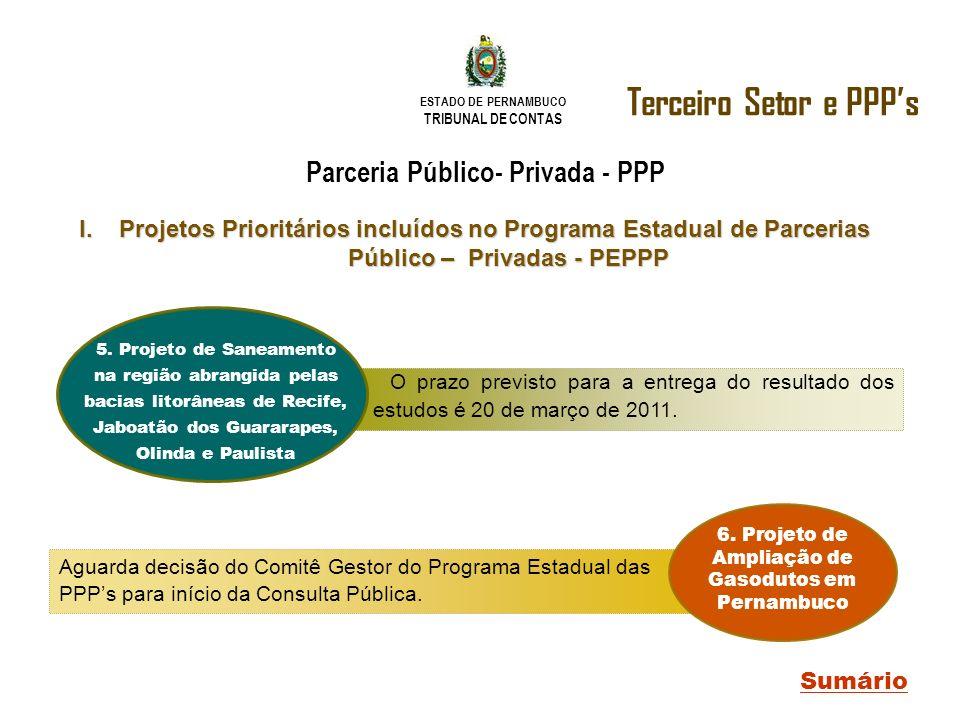 Terceiro Setor e PPP's Parceria Público- Privada - PPP