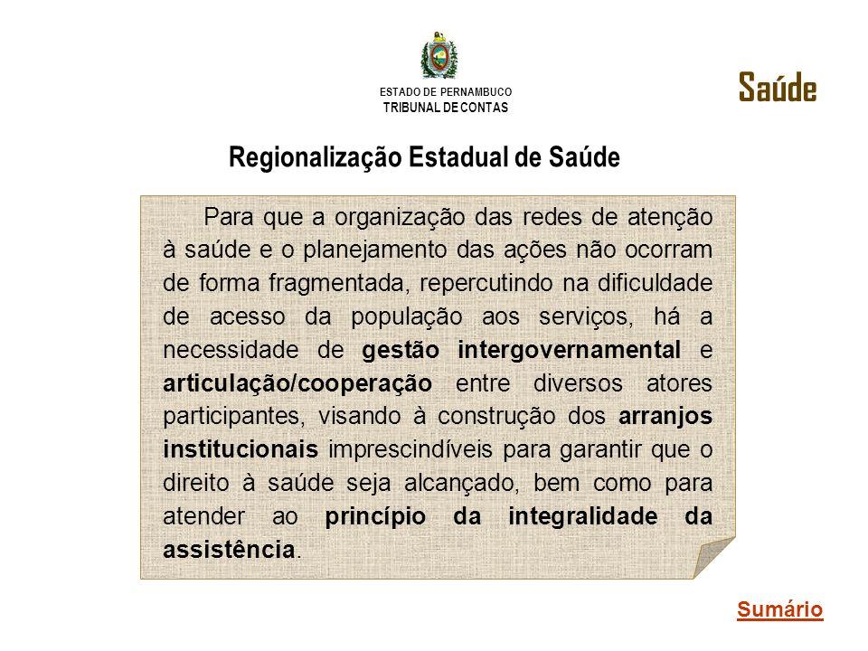 Regionalização Estadual de Saúde