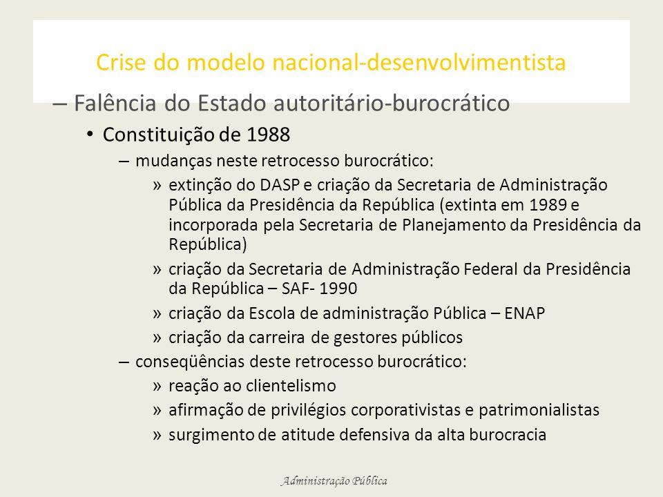 Crise do modelo nacional-desenvolvimentista