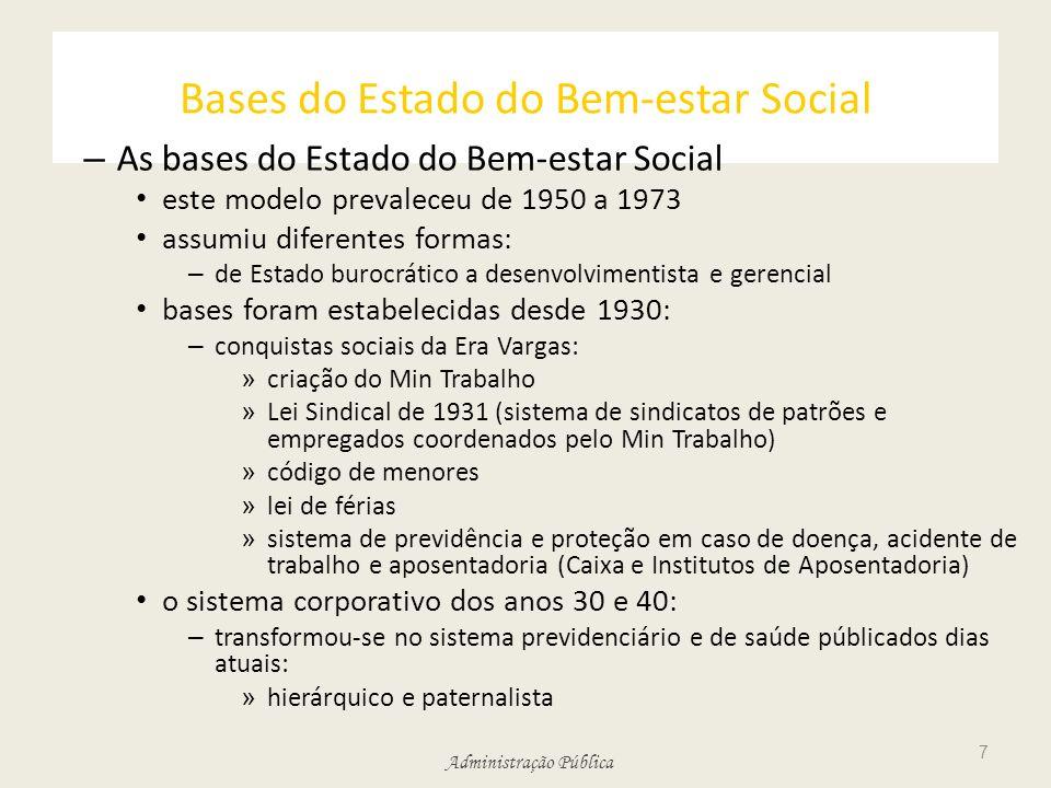Bases do Estado do Bem-estar Social