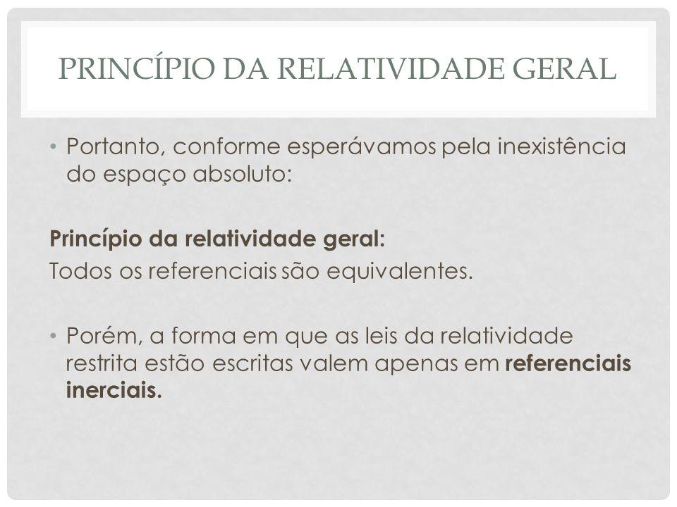 Princípio da relatividade geral